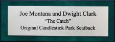 The Catch Montana Clark Seatback Display Case Nameplate