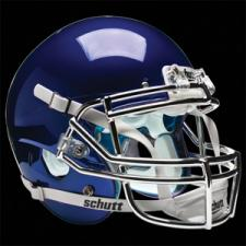 Navy Chrome Helmet