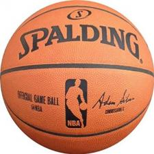 NBA Official Game Leather Basketball (Silver) by Spalding