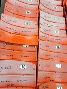 Autographed Candlestick Park Seats