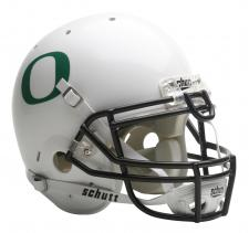 Oregon Ducks Full Size Authentic White Helmet by Schutt