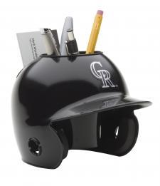 Colorado Rockies Mini Batting Helmet Desk Caddy