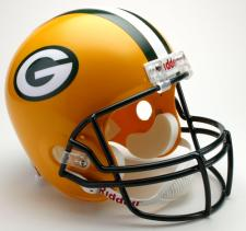 Green Bay Packers Helmet 1980-Present Deluxe Replica Full Size by Riddell