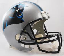 Carolina Panthers Helmet 2012-current Deluxe Replica Full Size by Riddell
