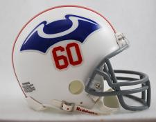 New England (Boston) Patriots 1960 Throwback Z3B Replica Mini Helmet
