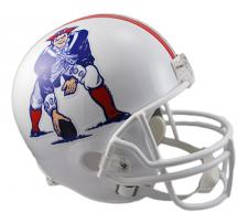 New England Patriots Helmet 1982-89 Throwback Deluxe Replica Full Size by Riddel
