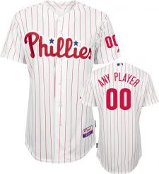 Philadelphia Phillies Authentic Home White Baseball Jersey by Majestic
