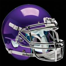 Purple Chrome Helmet
