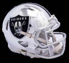 Raiders Chrome Mini Helmets