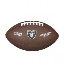 Oakland Raiders Team Logo Composite Leather NFL Football by Wilson
