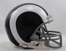 Los Angeles Rams 1965-72 Throwback Replica Mini Helmet
