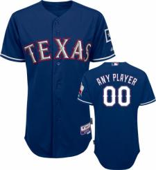 Texas Rangers Authentic Alternate Royal Blue Baseball Jersey by Majestic