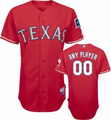 Texas Rangers Authentic Alternate Red Baseball Jersey by Majestic