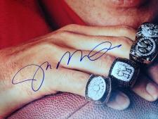 30x40 Joe Montana Photo Rings Close Up