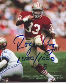 """49ers Roger Craig Autographed 8x10 #323 with """"1000/1000"""""""