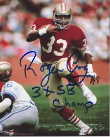 "49ers Roger Craig Autographed 8x10 #324 with ""3xSB Champ"""
