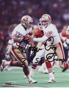 """49ers Roger Craig Autographed 8x10 #325 with """"3xSB Champ"""""""