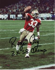 """49ers Roger Craig Autographed 8x10 #326 with """"3xSB Champ"""""""