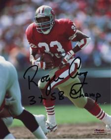 """49ers Roger Craig Autographed 8x10 #328 with """"3xSB Champ"""""""