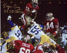 """49ers Roger Craig Autographed 8x10 #329 with """"3xSB Champ"""""""