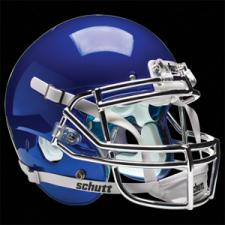 Royal Blue Chrome Helmet