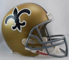 New Orleans Saints Helmet 1967-75 Throwback Deluxe Replica Full Size by RiddellN