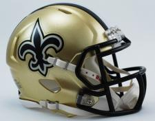 New Orleans Saints Mini Speed Helmets by Riddell