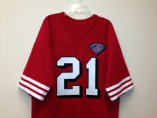 Deion Sanders Authentic San Francisco 49ers old syle Jersey, 75th anniversary