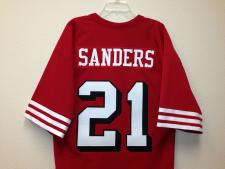 Deion Sanders Authentic San Francisco 49ers old syle Jersey