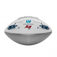 Buccaneers Super Bowl 55 Champions Metallic Silver Commemorative Football