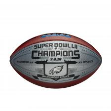 Eagles Super Bowl 52 Champions Silver Football