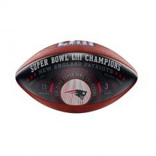 Patriots Super Bowl 53 Champions Commemorative Blue Football