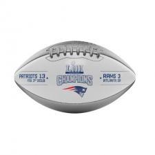 Patriots Super Bowl 53 Champions Commemorative Composite Metallic Football