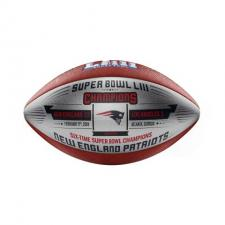 Patriots Super Bowl 53 Champions Commemorative Metallic Silver Football