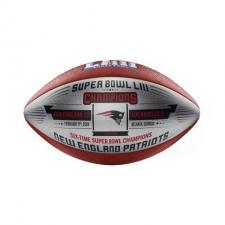 Patriots Super Bowl 53 Champions Commemorative Metallic Silver Football