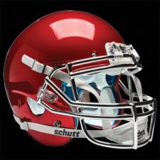 Scarlet Red Chrome Helmet