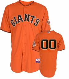 San Francisco Giants Authentic Home Orange Baseball Jersey by Majestic
