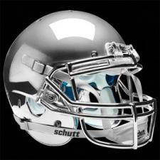 Silver Chrome Helmet