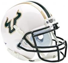 South Florida Bulls White Shell Mini Helmet by Schutt