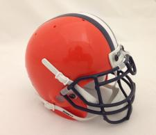 Syracuse Orangemen 1983-04 (White & Navy Stripes) Mini Helmet by Schutt