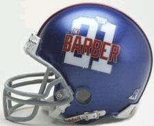 New York Giants Tiki Barber Player Replica Mini Helmets by Riddell