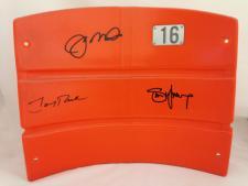 Joe Montana, Jerry Rice, Steve Young signed Seatback