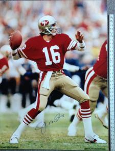 Joe Montana Autographed Photo 30x40