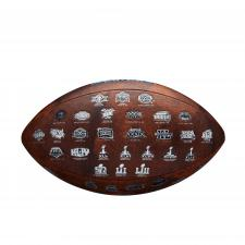Super Bowl 53 Football with Logos