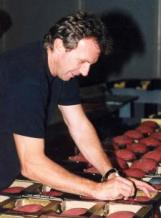 Joe Montana Signing Footballs at NSD