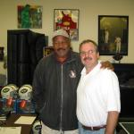 Jim Brown with NSD President Rob Hemphill taking a break during a NSD autograph session