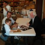 Ken Stabler signing at National Sports Distributors for NSD's Justin Hemphill