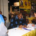 Magic Johnson autographing for National Sports Distributors