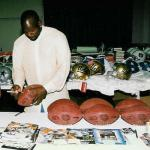 Emmitt Smith autographing for National Sports Distributors