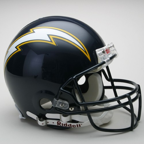San Diego Chargers Helmets: San Diego Chargers Helmet 1988-06 Throwback Pro Line